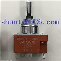 NKK代理进口三位防水钮子开关型号S-8AW/B小型摇头开关