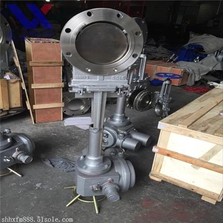 电动闸阀PZ973W-10P电动刀闸阀 不锈钢刀闸阀 对夹闸阀上海沪工