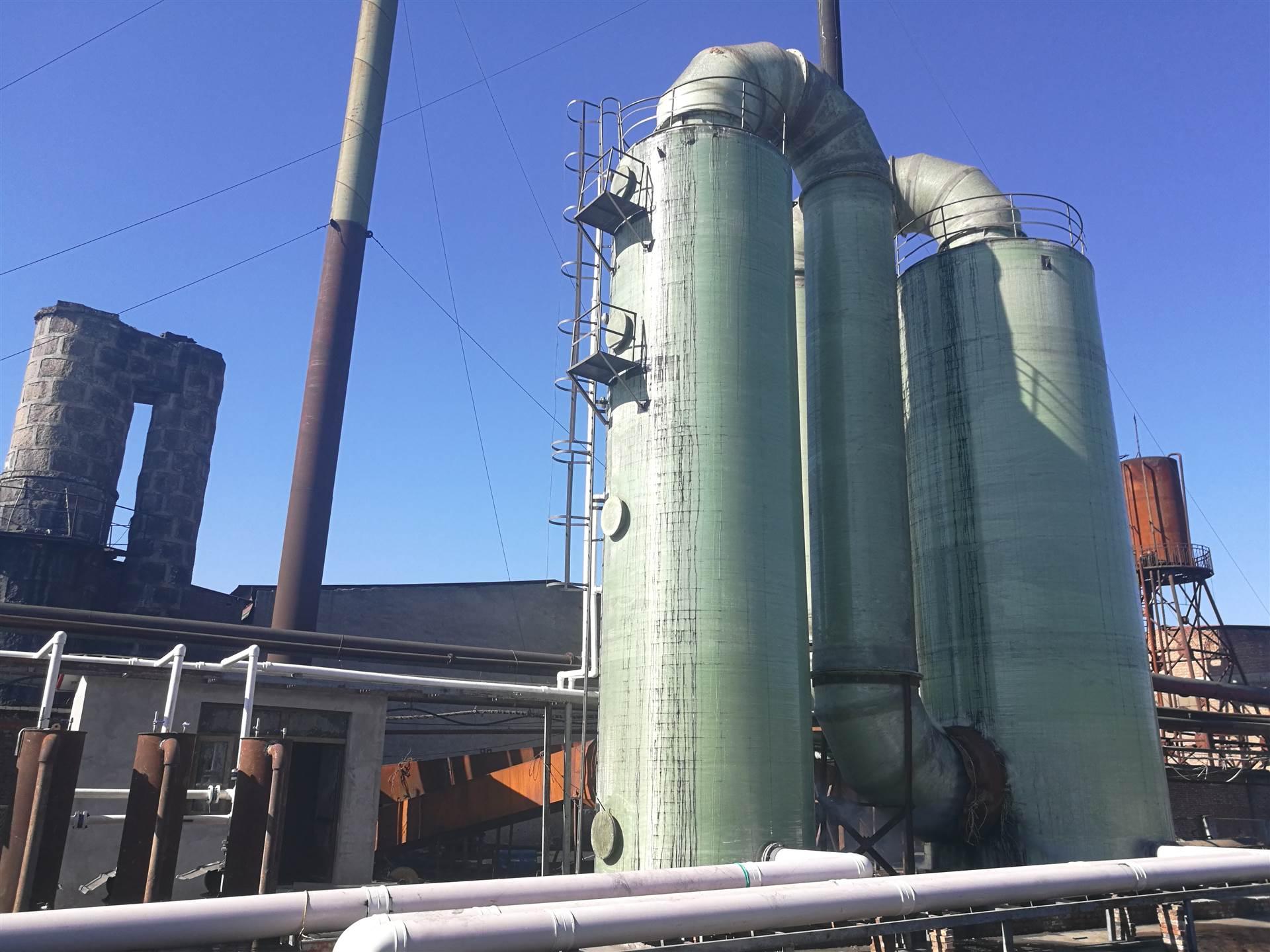 砖厂脱硫塔生产厂家 中的喷雾塔组成程
