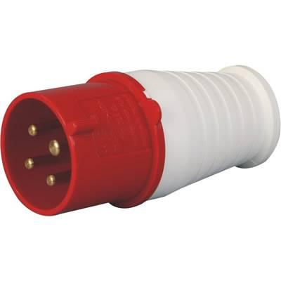 工业插头公头母头32A/415v红色 024