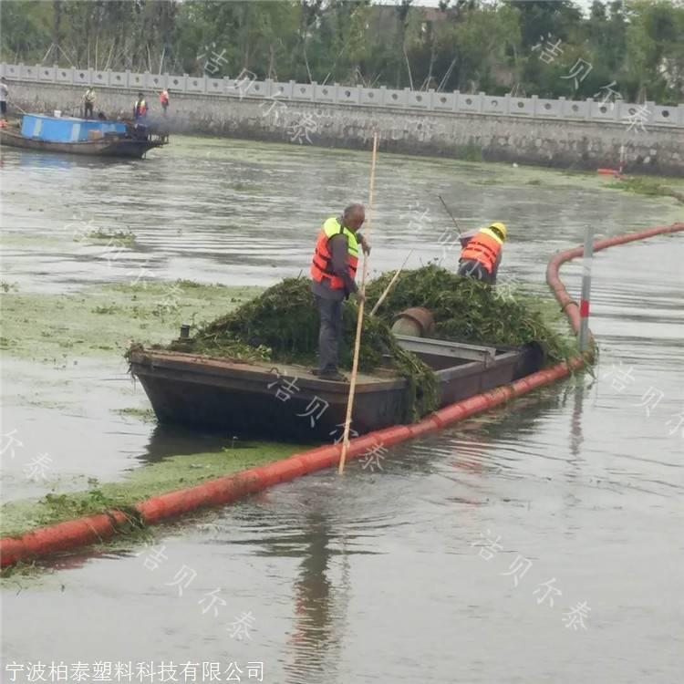 敖江流域拦污工程拦截海漂垃圾浮筒