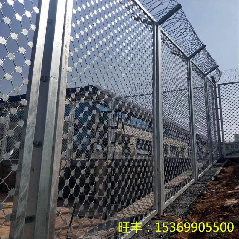 监狱钢网墙-巡逻道警戒防护网