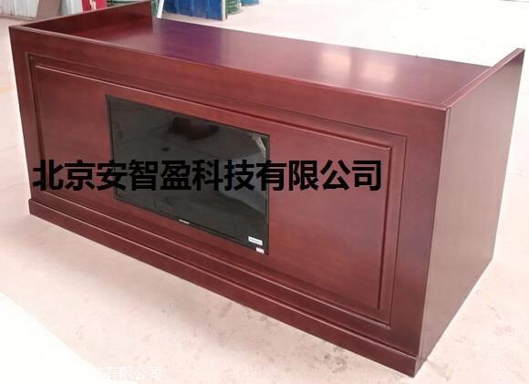 木质审讯桌详细参数/审讯桌带显示器
