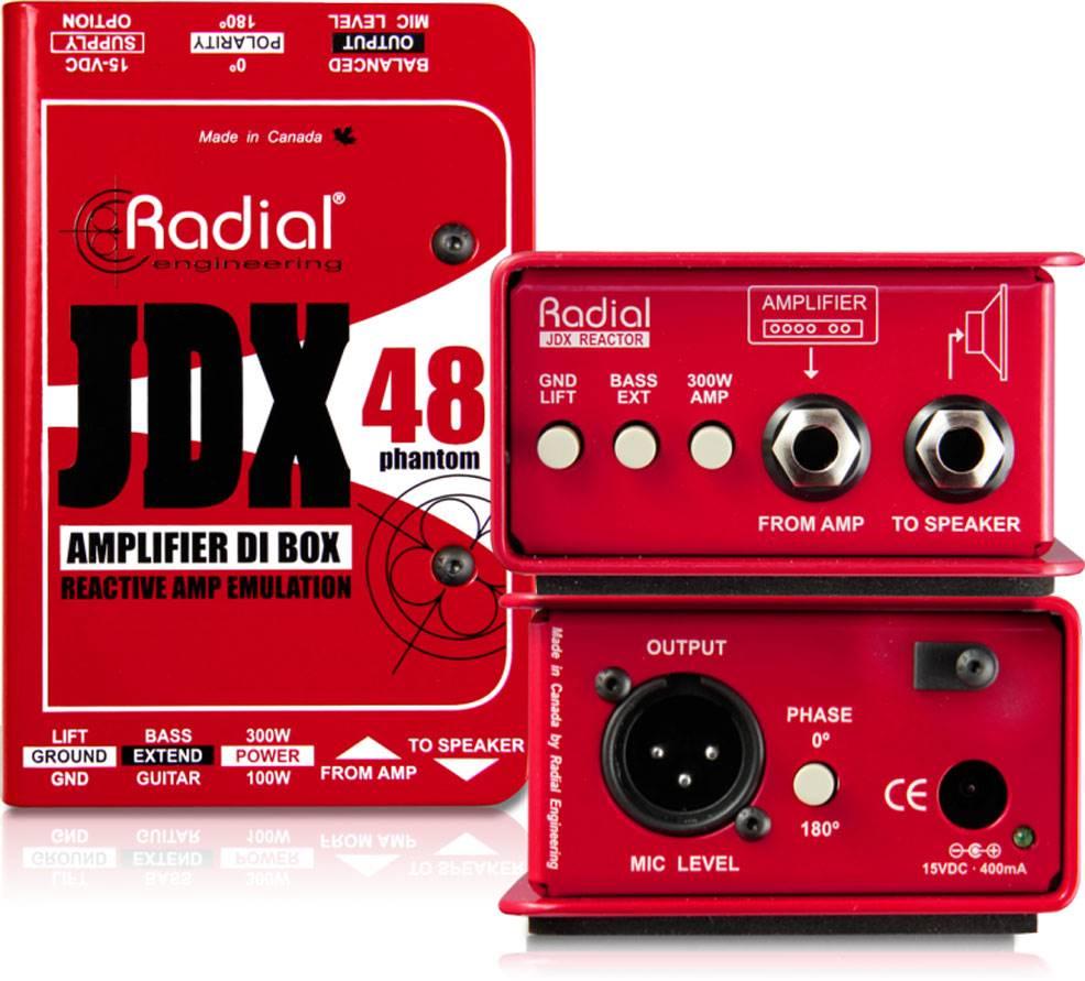 Radial JDX-48 吉他功率放大器DI直插盒批发零售 单通道DI直插盒