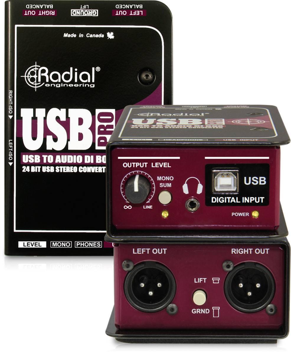 Radial USB-Pro USB Pro 立体声USB电脑DI直插盒批发零售 单通道