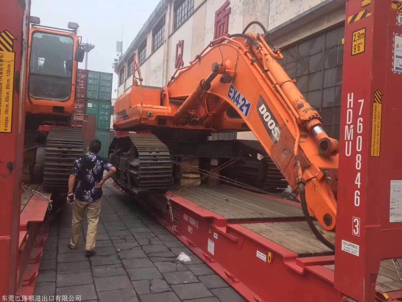国外进口二手挖掘机清关中检代理