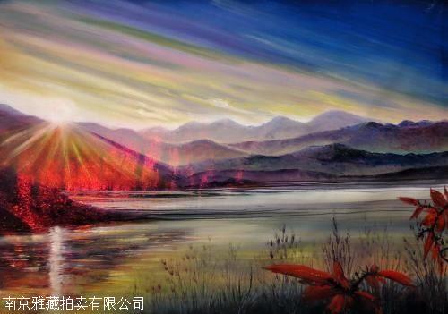 黄建南的油画注重色彩,光影,透视等西方技法的运用,画出来的画骨子里