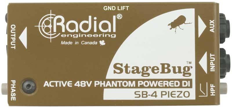 Radial SB-4 立体声有源DI直插盒批发零售 隔离变压器 消除接地回