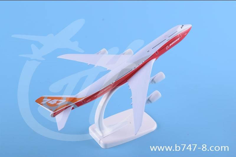飞机模型金属波音B747-8原型机纯手工静态客机航模20厘米礼品