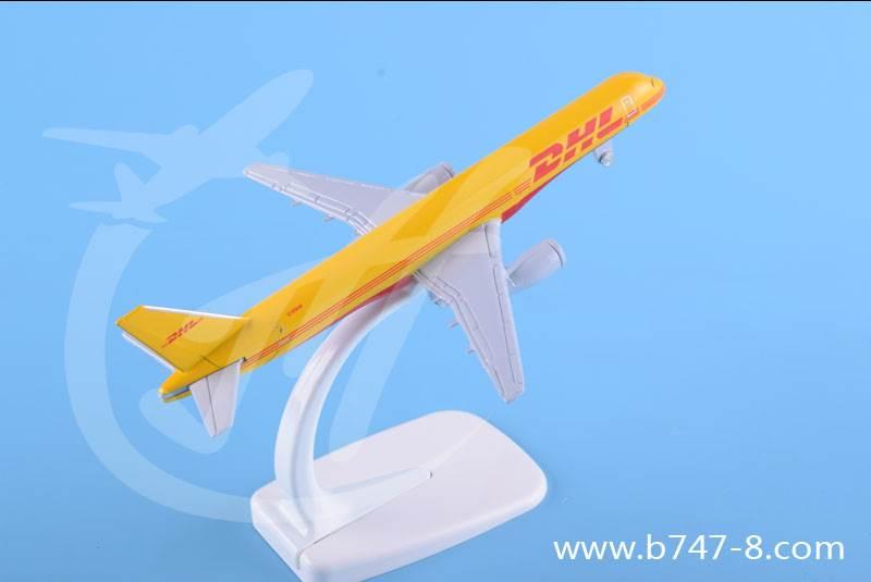 飞机模型金属B757DHL迷你尺寸16厘米广告商务礼品玩具航模