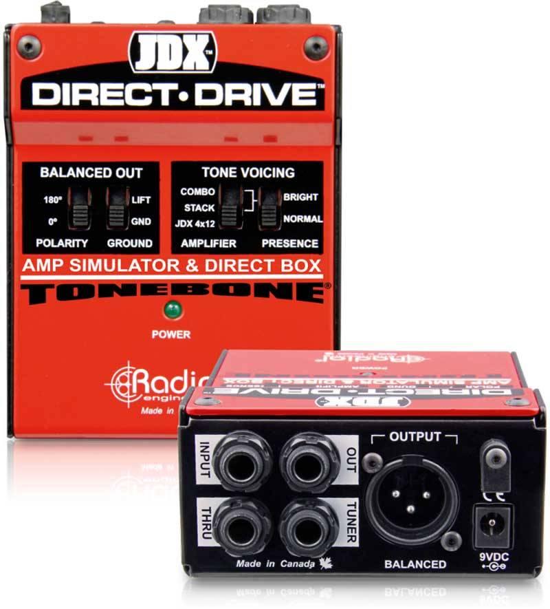 Radial JDX Direct 用于电吉他、电贝司放大模拟器DI直插盒批发零