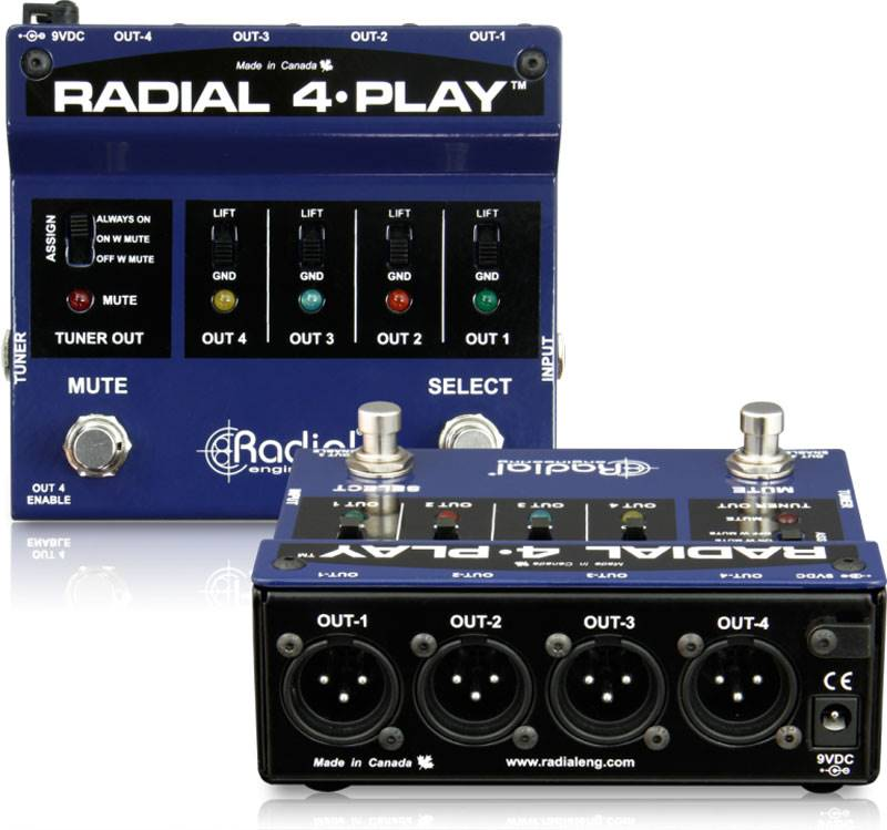 Radial 4-Play 多输出DI直插盒脚踏开关批发零售 隔离变压器