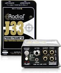 Radial J33 胶木电唱机降噪DI直插盒批发零售 隔离变压器 消除接