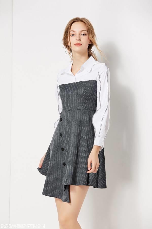 女装品牌折扣网丹时力19年春夏新款连衣裙上衣