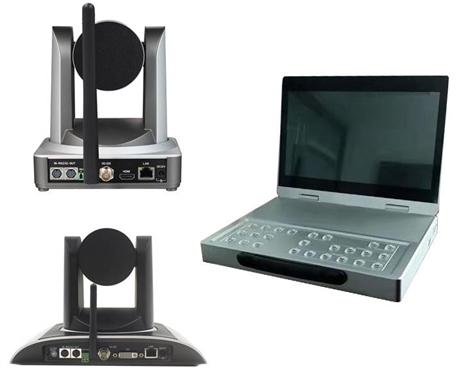 4路无线录播一体机 4路无线便携式数字嵌入式录播主机