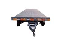 6噸無動力牽引平板全掛拖車 灰色