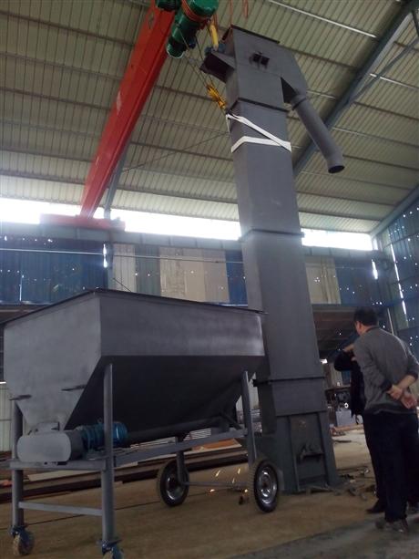 大型垂直斗式提升机加工价格低 垂直瓦斗上料机