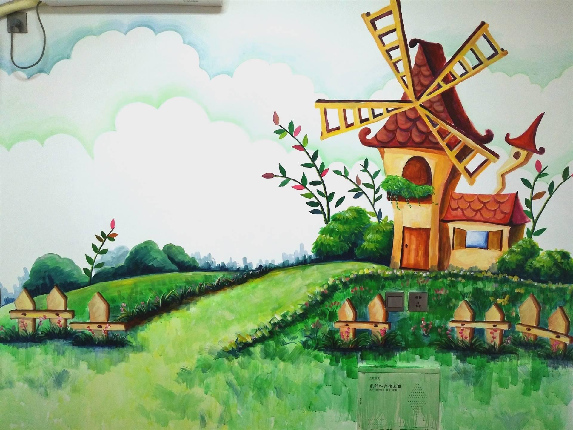 梦想天空专注成都手绘墙画,酒吧壁画,室内外墙面的纯手绘装饰