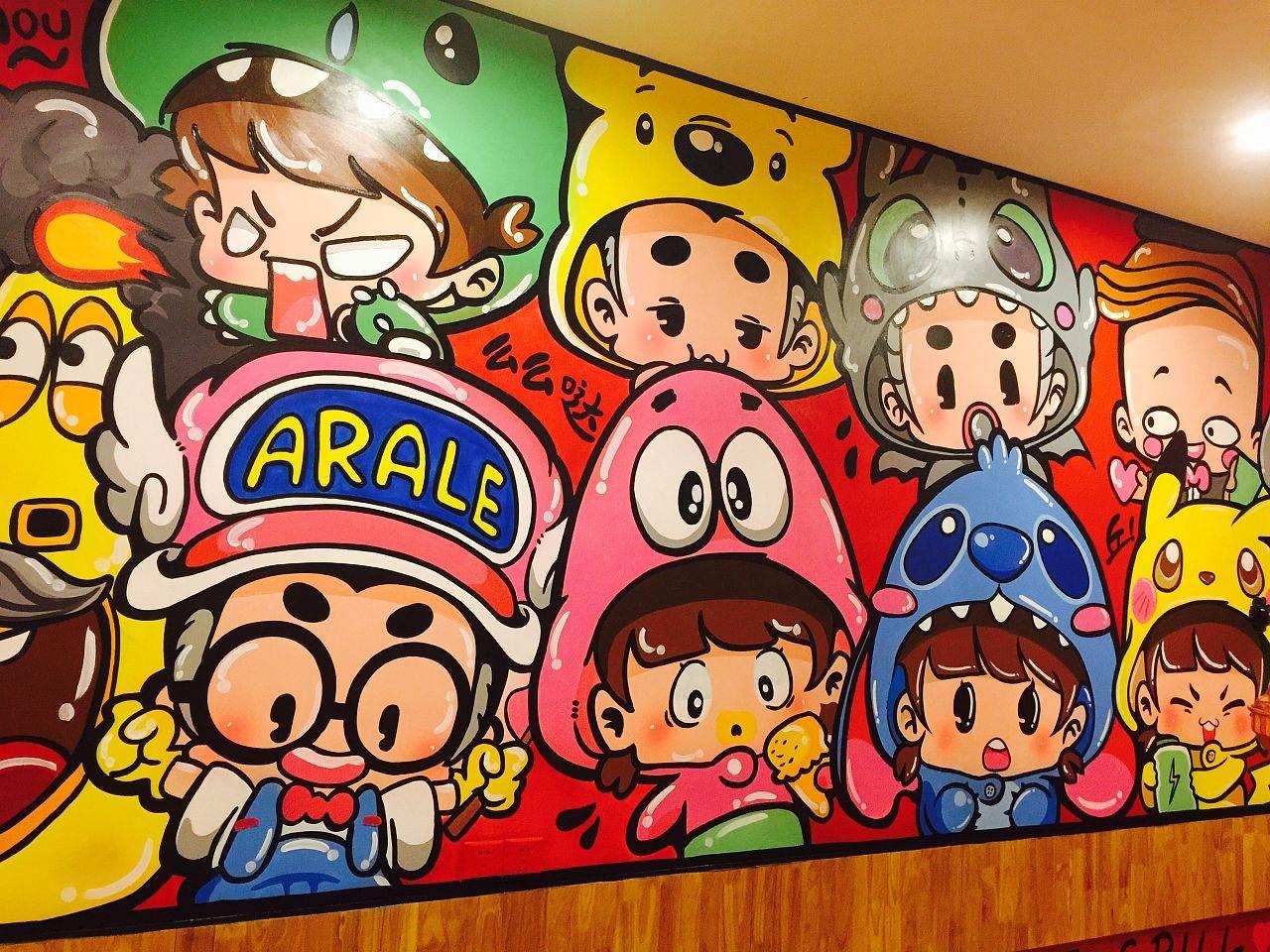 梦想天空专注成都手绘墙画,办公楼墙绘,酒店墙绘
