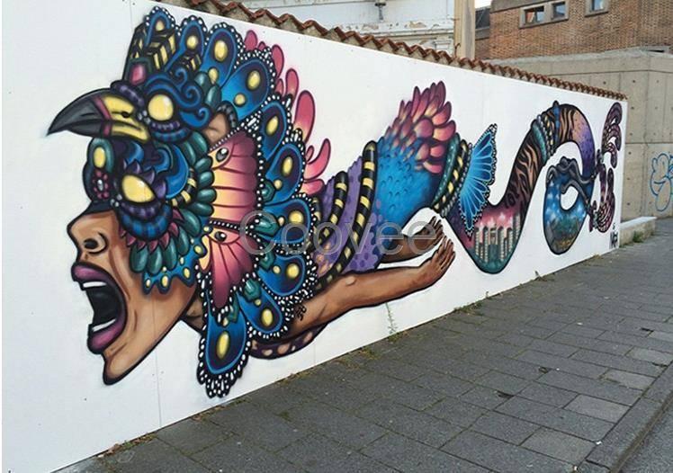 梦想天空专注成都新农村墙画,酒吧壁画,室内外墙面的纯手绘装饰