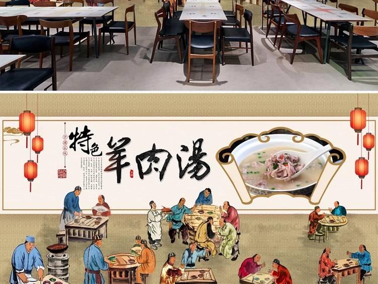 梦想天空专注成都餐馆墙画,商场墙绘,餐厅墙绘