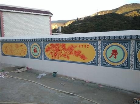 梦想天空专注成都新农村墙画,成都墙体彩绘,创意墙绘设计