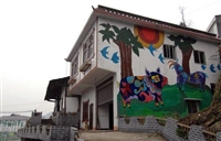梦想天空专注成都新农村墙画,厂房墙绘,学校墙绘