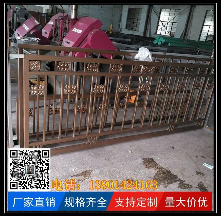 北京不锈钢防撞金色护栏绿化带栏杆通州区车道分隔栏
