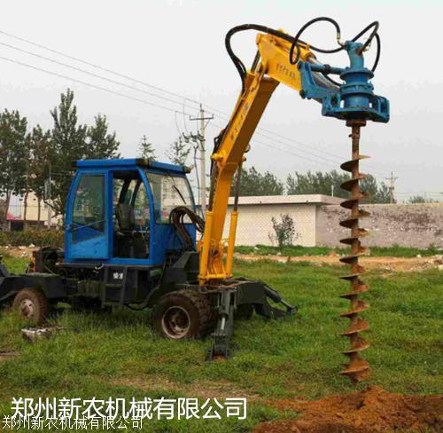 大型挖掘机挖坑机液压式钻孔机图片