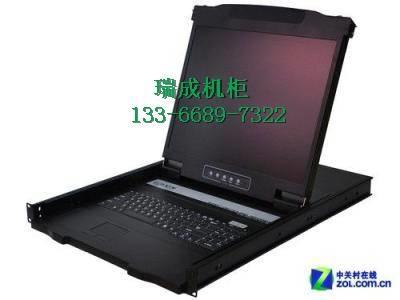 KVM切换器高清8口USB宽屏机架17寸抽拉折叠级