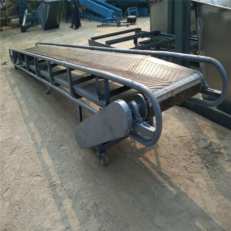 興運工廠按需加工定制9米長圓管護欄 糧食裝卸槽鋼輸送機