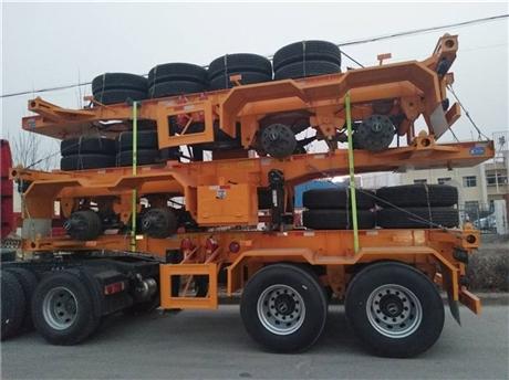 广西、广东集装箱骨架车定做、20英尺40英尺45英尺48英尺骨架挂车