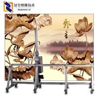 汉皇墙体彩绘创业     室外墙体打印机现场施工
