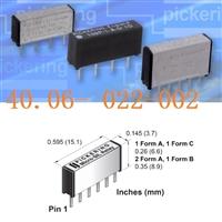 代理Pickering簧片继电器Micro-SIL/ SIP舌簧109P-1-A-12