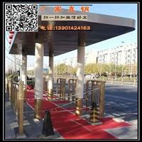 供应304不锈钢站台 北京金色公交站厅江苏生产厂家