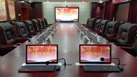 供應太原會議室 智能交互式桌面無紙化超薄15.6寸液晶屏升降器
