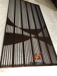 中式管子焊接不锈钢屏风隔断 造型金属屏风完美