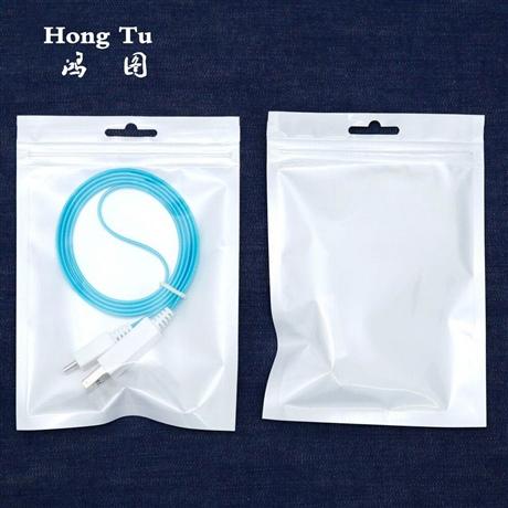 东莞大朗珠光膜阴阳袋 数据线耳机线包装袋定制