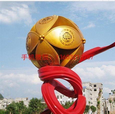 不锈钢绣球雕塑,广场绣球雕塑景观装饰