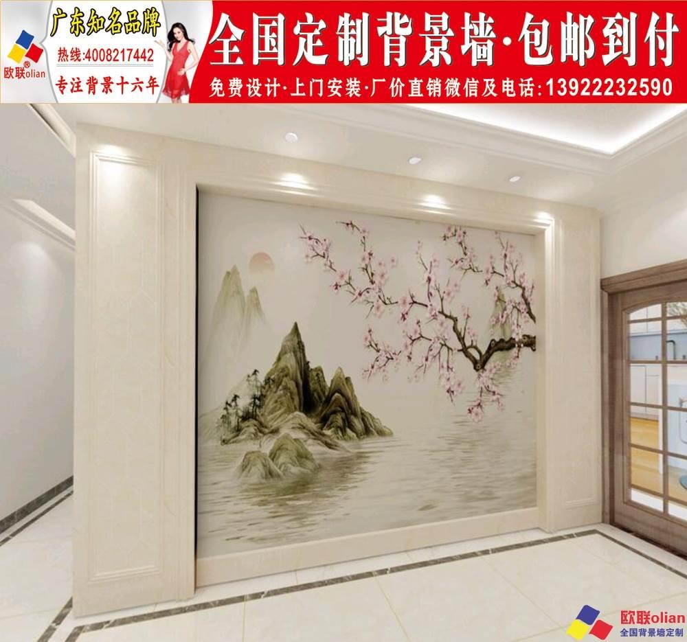客厅电视背景墙设计201920现代简约中欧式瓷砖大理石材r73