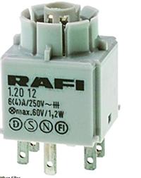 原装进口rafi触点单元型号1.20.122.011/0000触点模块