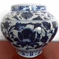 元青花缠枝牡丹罐拍卖较新 价格是多少