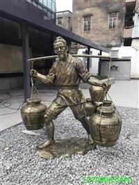 肇庆仿铜人物雕塑、校园玻璃钢雕塑、玻璃钢人物雕塑厂家