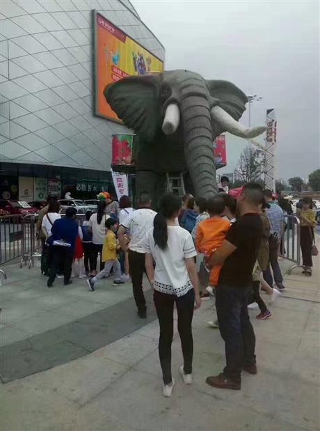大型声势浩大机械大象出租