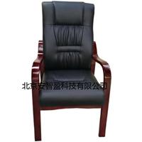 实木办公椅 黑色职员皮椅接待电脑椅 会议椅