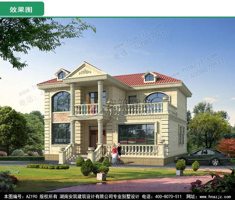 农村15万元二层小楼图,别墅图纸超市15万造价