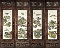 汪野亭瓷板画鉴定交易拍卖公司 汉斯德拍卖