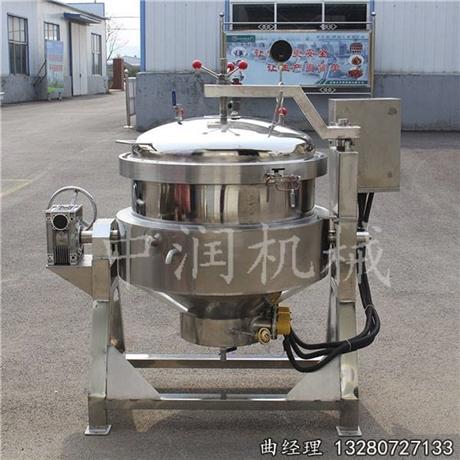 大型液压自动翻盖粽子蒸煮锅厂家