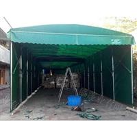 直销仓库雨棚伸缩折叠蓬 推拉雨棚 钢结构雨棚户外推拉蓬