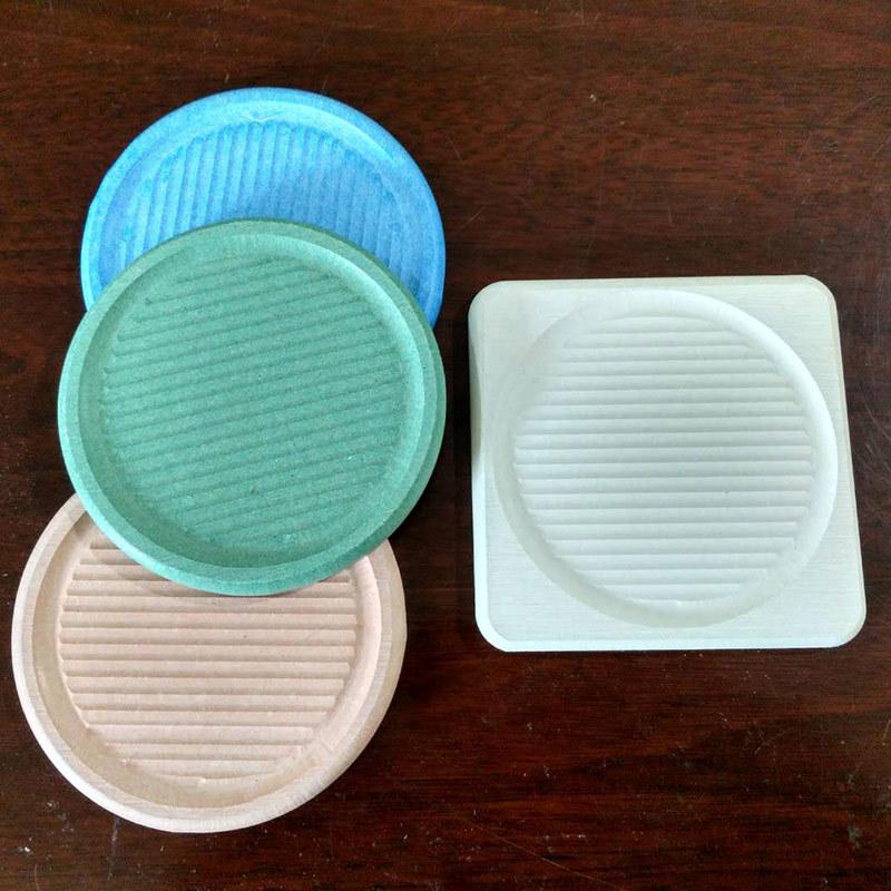 厂家直销硅藻土吸水垫硅藻泥水杯垫茶碗垫速